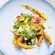 Houston, soft shell crab dishes, June 2017, Potente