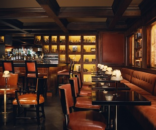 The bar at the Rosewood Mansion on Turtle Creek