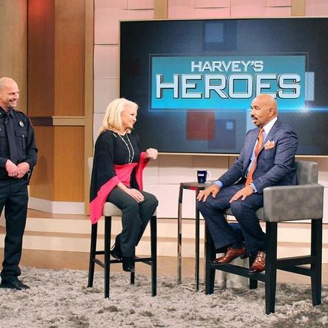 Kristi Schiller and Steve Harvey on the Steve Harvey Show