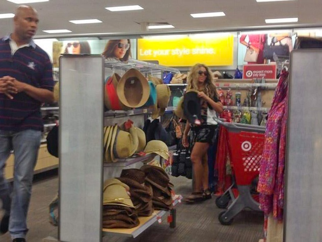 Beyonce at Target in Houston July 14, 2013