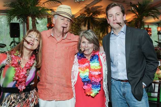 9 Janna and David Marks, left, and Cathy and Jared Cox at Trees of Houston Root Ball March 2015