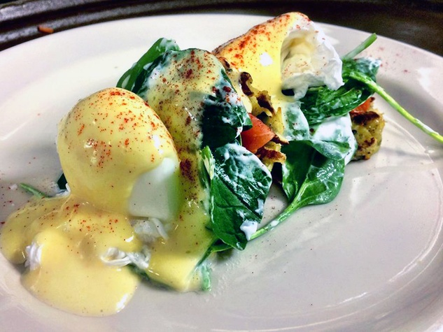 Tony Mandola's Gulf Coast Kitchen eggs Benedict