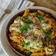Italic Austin restaurant pasta dish baked penne
