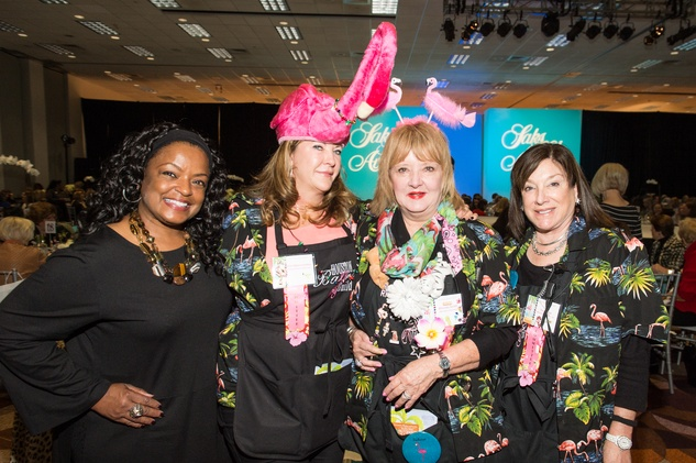 Renita Wilson, from left, Kris Abercrombie, Rhonda Smith and Tua Burke at the Nutcracker Market Saks luncheon and fashion show November 2014