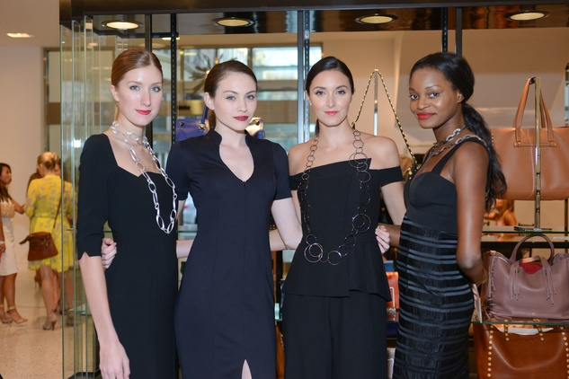 Models Kristin Qualia, from left, Suzie Ford, Katelynn Denney and Cora Uwajeh at the WOW Summer Soiree August 2014