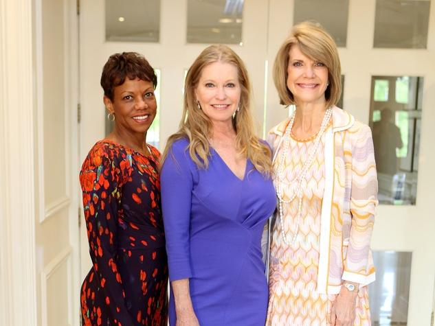 Deborah Lee-Eddie, from left, Lisa Niemi Swayze and Kim Tutcher at the St. Luke's Friends of Nursing luncheon April 2014