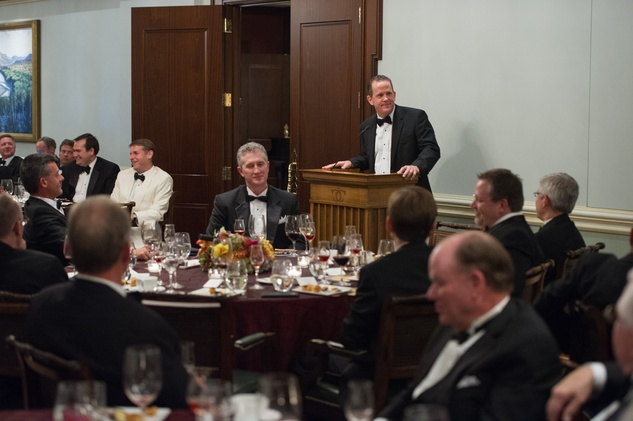 Jamey Rootes speaking at the Alley Theatre Wild Things Dinner October 2014