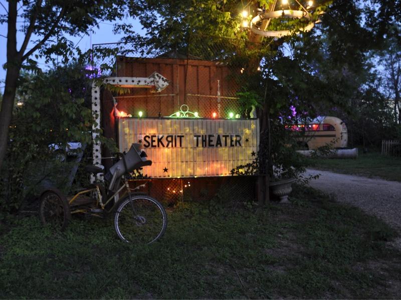 Austin Sekrit Theater sign