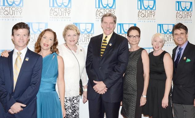 Actors' Equity Fund anniversary event September 2013 Joel Sandel, Carolyn Johnson, Susan Shofner, Nick Wyman, Mary McColl, Karen Mata, David Grant