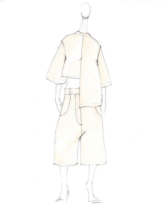 Ji Oh inspiration sketch New York Fashion Week spring 2016