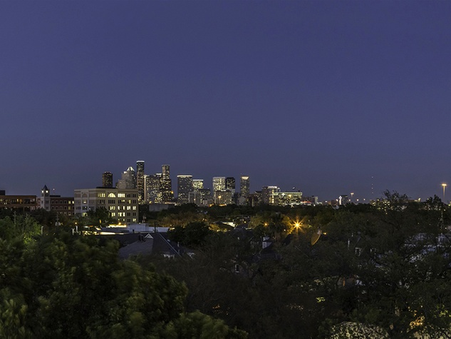 Topaz Villas luxury condos 4520 Yoakum Blvd. Montrose Houston skyline downtown June 2014
