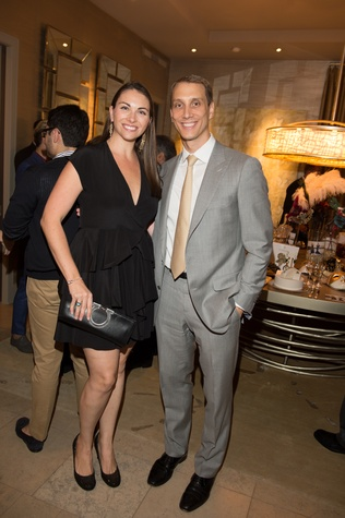 3 Beth and Nick Zdeblick at the Houston Ballet kick-of party October 2014