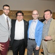 Wanderson Rezende, from left, Ernest Berger, Eric Bradley and Jim Johnson at the Mitchell Gold + Bob Williams Houston grand opening celebration