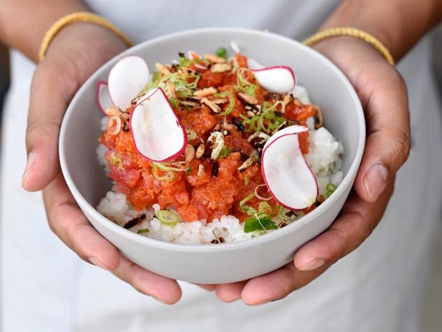 SeaSide Poke spicy tuna bowl
