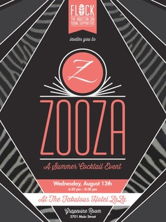"""Flock, the Houston Zoo Young Supporters hosts """"ZooZa"""" at Hotel ZaZa"""