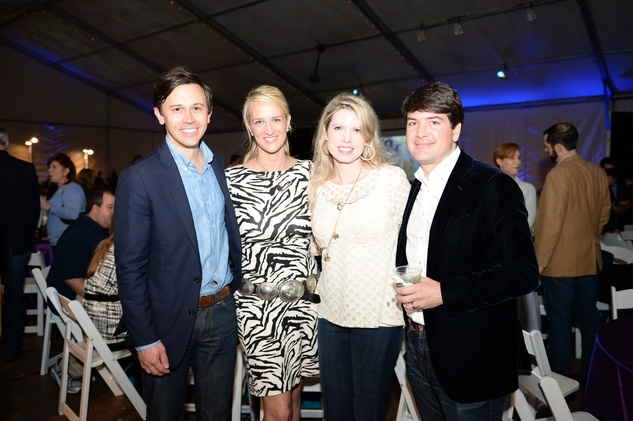 272 Matt and Catherine Matthews, from left, and Courtney and Bill Toomey at the Houston Zoo Ambassadors Gala February 2015