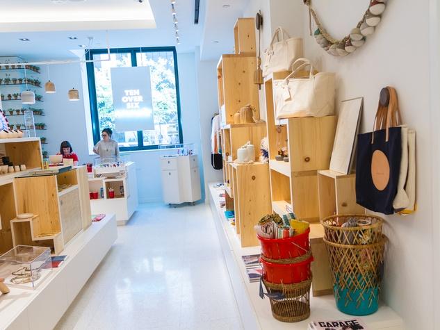 Interior of TenOverSix Present boutique in Dallas