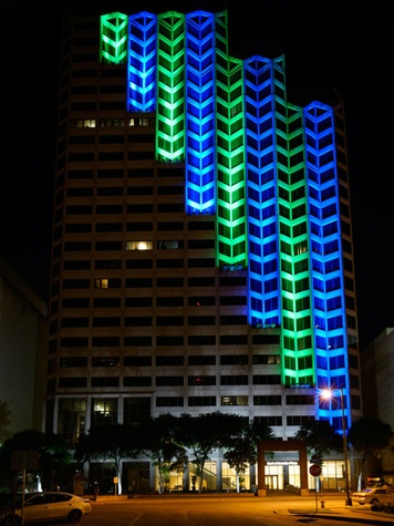 Kinetic Skyline light installation San Antonio