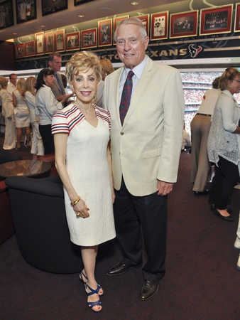 Texans Owners Suite, September 2012, Margaret Alkek Williams, Jim Daniel