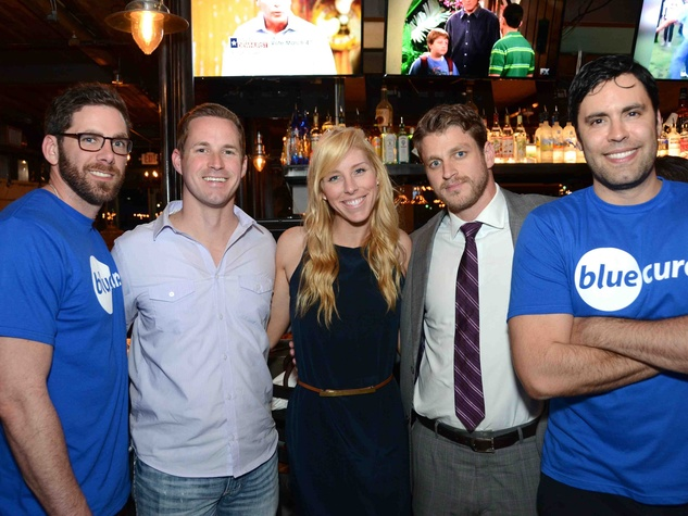 James Bench, from left, Adam Greer, Lindsey George, Dan Zimmerman and Gabe Canales at Blue Cure Young Professionals February 2014