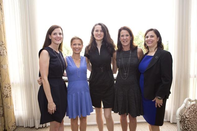 Elizabeth Hogan, from left, Susan Light, Liz Murray, Lorie Herod and Ana Schick at the Small Steps Nurture & Nourish Luncheon September 2014.