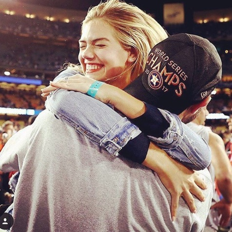 Kate Upton and Justin Verlander celebrate World Series win