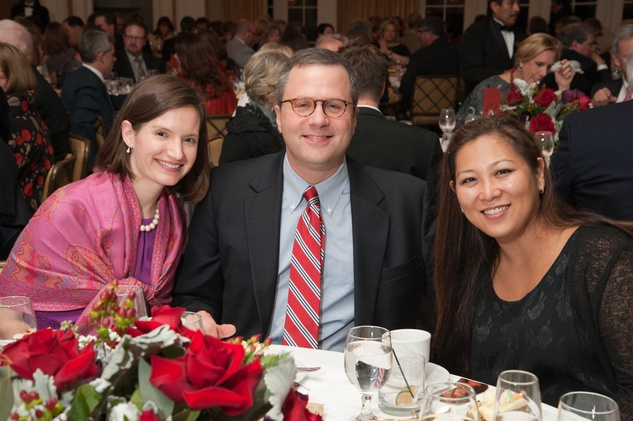 180 Connie and Tony Pfeiffer, from left, with Sandy Yamamoto at the River Oaks Chamber Orchestra Gala September 2014