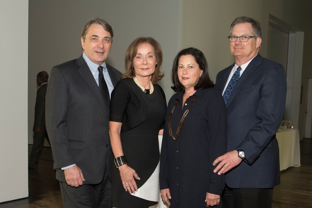 Mark Wawro, from left, Melanie Gray and Sherry and Gerald Merfish at the ADL Jurisprudence Award kick-off April 2015