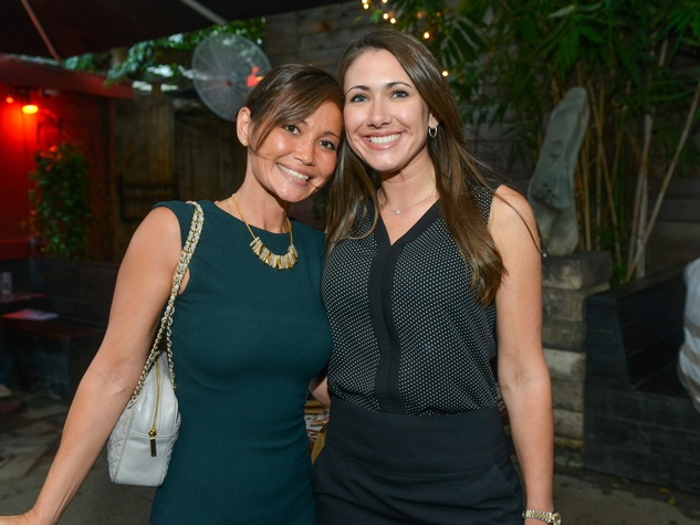 10 Monique Morgan, left, and Christine Thorp at the CultureMap Social at Boheme September 2014