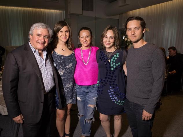 Charles Teichman, Alysa Teichman, Jennifer Meyer, Joanne Teichman, Tobey Maguire, private joule dinner party