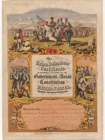 News_HMNS_Civil War_Union Defenders Certificate