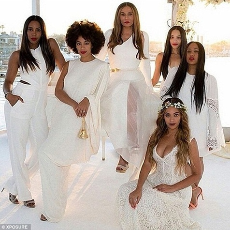 Beyonce, Tina Knowles, Kelly Rowland at wedding to Richard Lawson