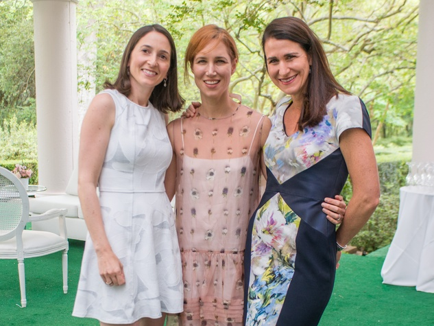 Bayou Bend luncheon, April 2016, Allison Leibman, Carolyn Doros, Kristen Berger
