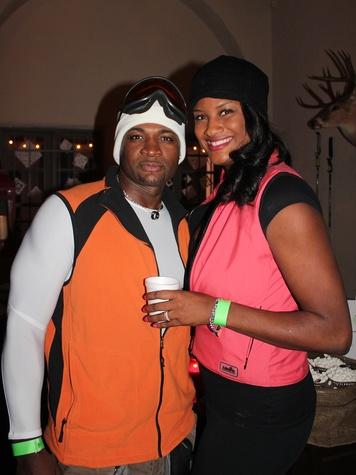 71 Duane Stevenson and Rashida Lee at the Herman Park Conservancy Ski the Green party November 2013