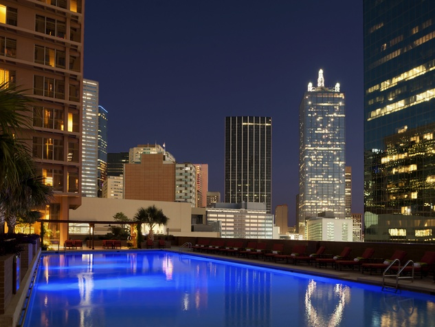 Pool at Fairmont Dallas hotel