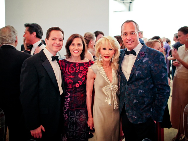Jim and Cristina Buaas, from left, Diane Lokey Farb and Mark Sullivan at the CAMH Gala April 2014