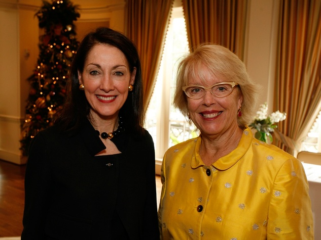 22 Susie Criner, left, and Susan Cooley at the Houston Botanical Gardens luncheon December 2013