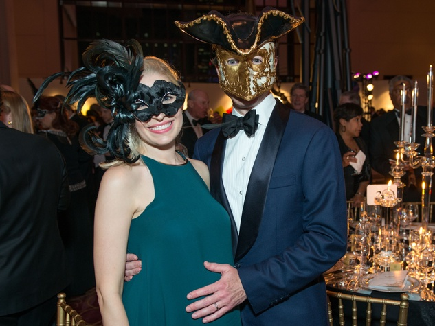 27 Isabel and Danny David Masks at the Houston Ballet Ball February 2015