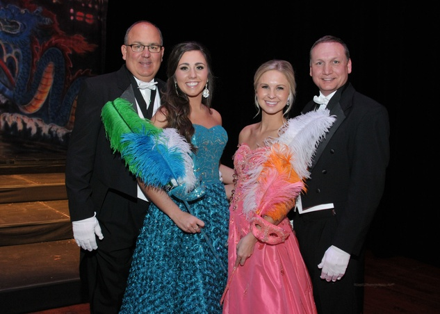 Kevin and Kenzie Kate Newkirk, from left, and Macey and Michael Wegner at the Knights of Momus Ball February 2015