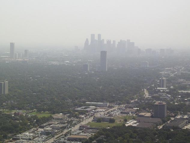 Houston, skyline, pollution, air quality, haze
