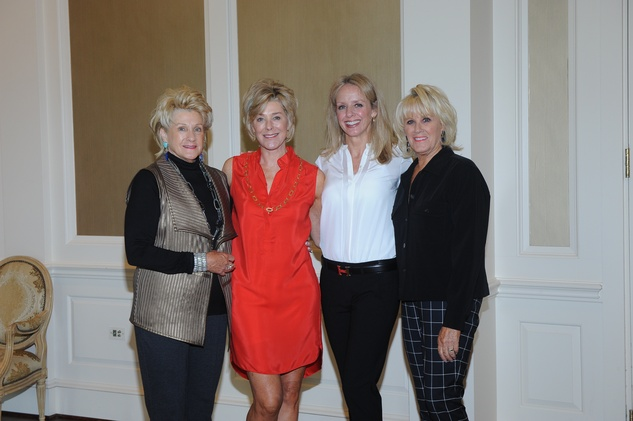 2 Ann Berry, from left, Leila Gilbert, Julie Grayum and Liz Jameson at the Assistance League luncheon October 2014