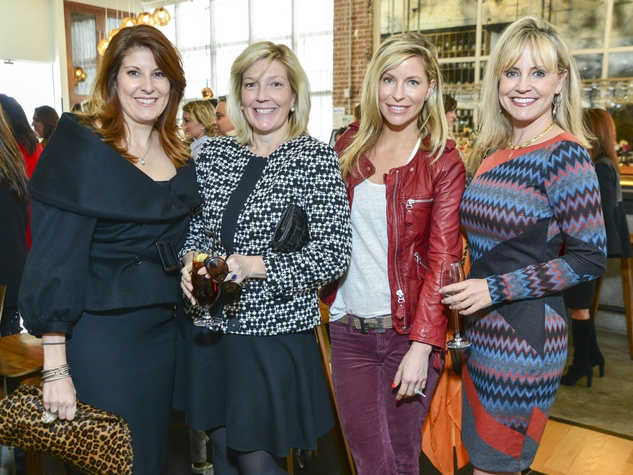 10 Christina Sacco, from left, Kathryn Smith, Laura Greenberg and Lacy Baird at the Petra Nemcova luncheon December 2013