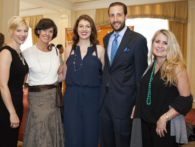 Elizabeth Marshall, Paula Harrison, Lindsey Frattarelli, Marco Frattarelli, Heather Allen, MS Luncheon