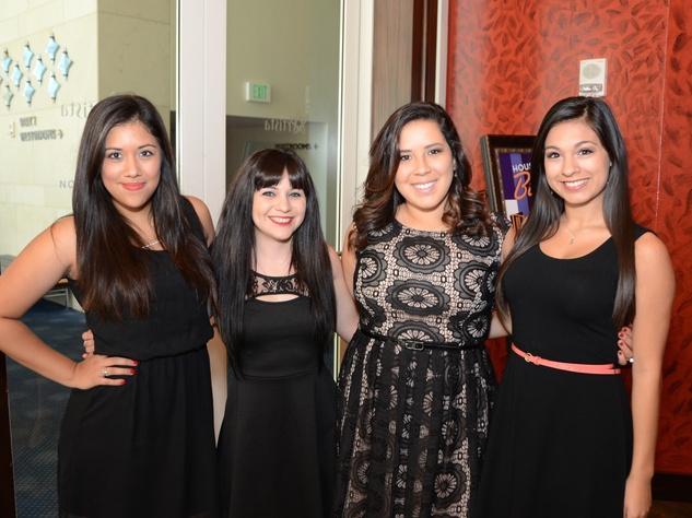 0 Aimara Flores, from left, Ashley Leaman, Alyssa Bangel and Lauren Meneses at the Dec My Room luncheon October 2014