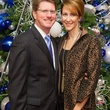 10 Jeff and Amy Miers at the Alley Theatre's Deck the Trees Celebration November 2013