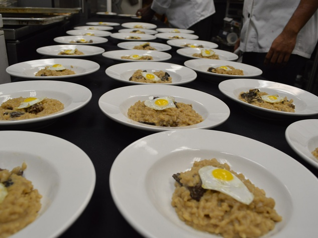 Davon, Champagne Friday, Veuve Cliquot dinner, October 2012, mushroom risotto with quail egg