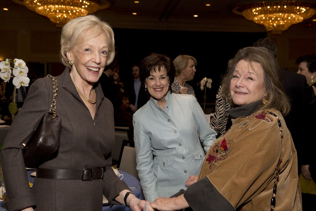 9 Cinda Mathews, from left, Chris Athon and Gail Hendryx at Bo's Place luncheon February 2015