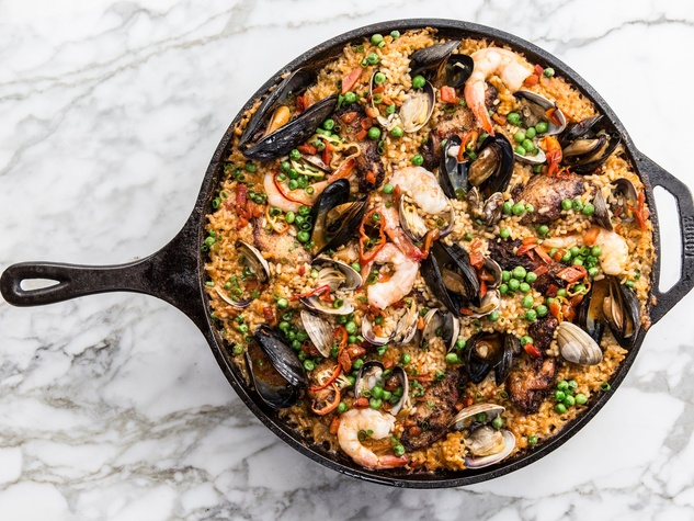 One Fifth Romance Languages cast iron paella