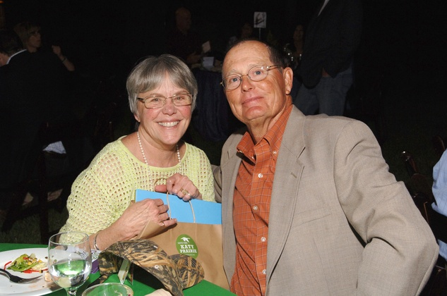 Janie and Gareth Cook at the Katy Prairie Conservancy fundraiser May 2014
