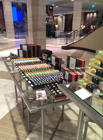 Kate Weiser chocolate pop-up shop at Hilton Anatole